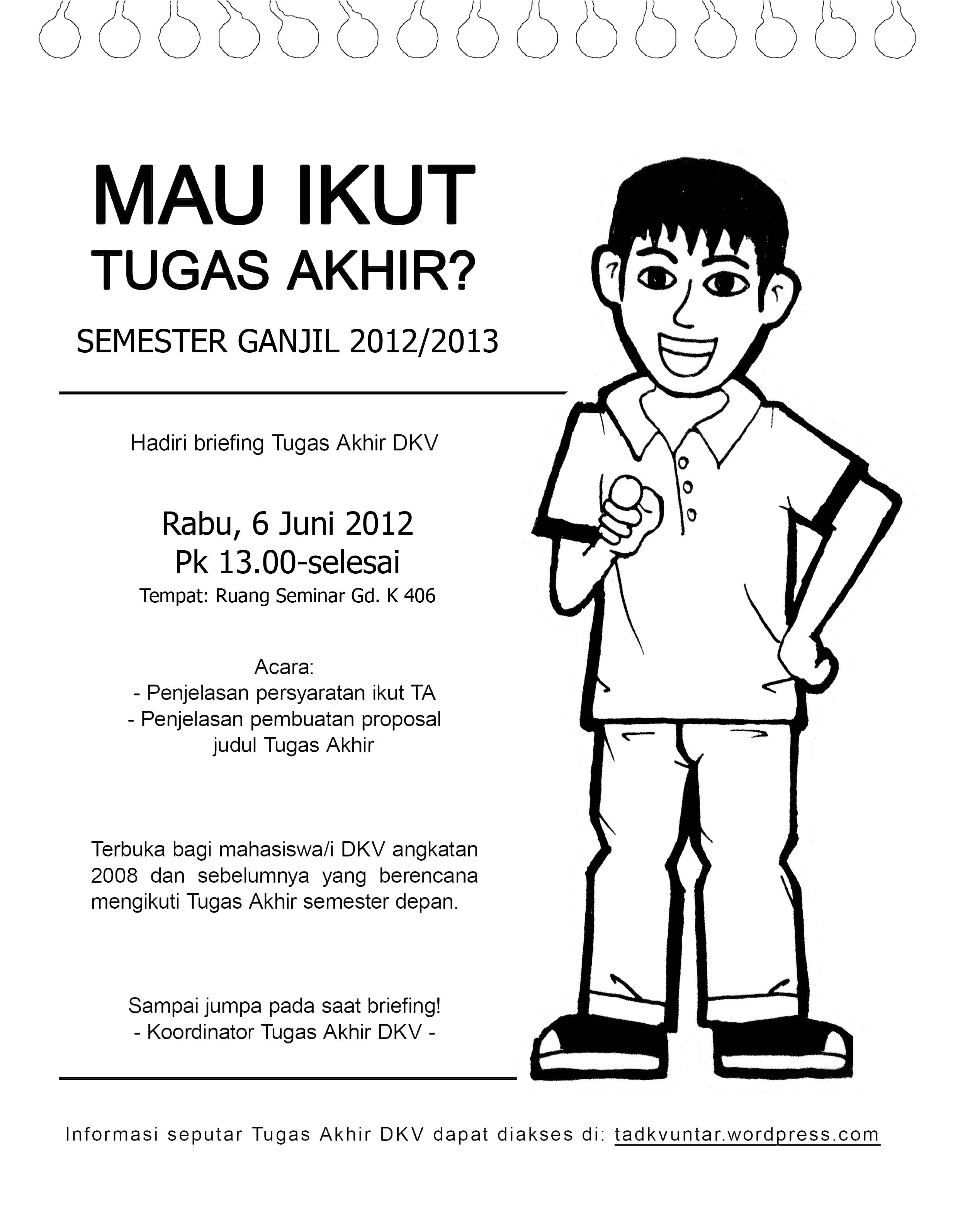 Briefing Tugas Akhir Tugas Akhir Dkv Fsrd Universitas Tarumanagara